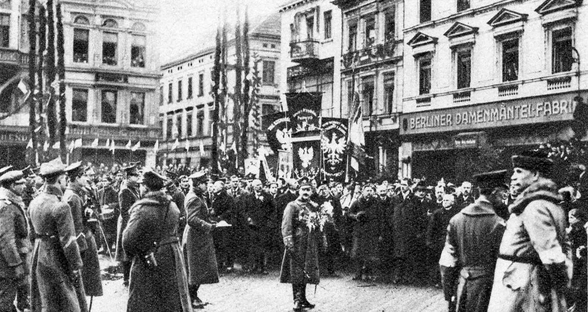 Powitanie Wojska Polskiego na Starym Rynku, Bydgoszcz, 20 stycznia 1920