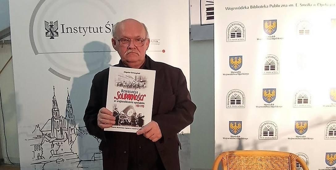 Zdjęcie ze spotkania  autorskiego Zbigniewa Bereszyńskiego w Wojewódzkiej Bibliotece Publicznej w Opolu 4 września 2020 roku.
