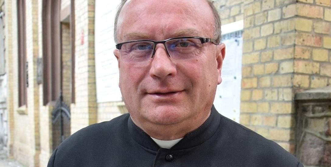 Ks. Dariusz Glama jest proboszczem w parafii przy ul. Mieszka I w Gorzowie.