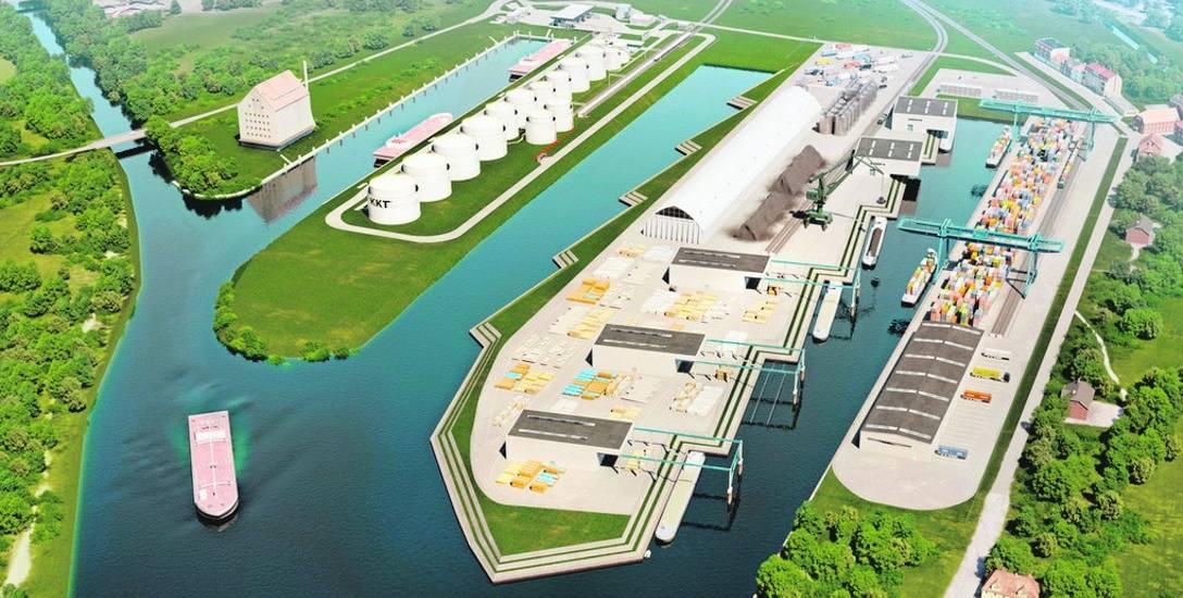 Tak w przyszłości może wyglądać kozielski port, jeśli inwestycja zostanie zrealizowana zgodnie z planami przedstawionymi przez spółkę Kędzierzyn-Koźle