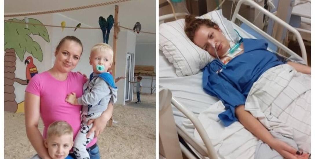 Justyna z Żar, jeszcze niedawno była pełną życia mamą, teraz leży w szpitalu i nie wiadomo, kiedy wróci do swoich dzieci i rodziny.