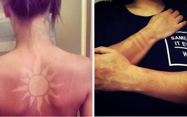 Tatuaże wypalane słońcem. To nowa wakacyjna moda, która jest bardzo niebezpieczna dla skóry