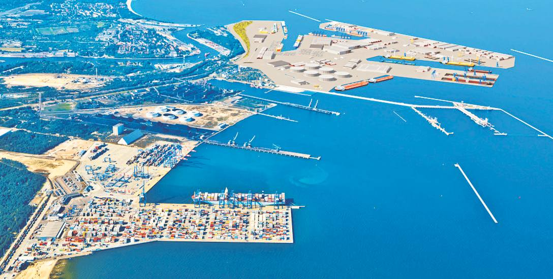 Port Centralny ma zwiększyć przeładunki w Gdańsku do 100 mln ton w skali roku. Powstać ma w widłach Portu Północnego i wejścia do Portu Wewnętrznego