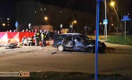 Motocyklista zginął w wypadku na skrzyżowaniu Jagiellońskiej i Cybisa w Kluczborku.