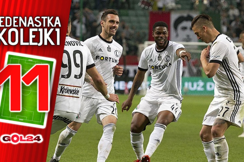Legia na szczycie. Jedenastka 31. kolejki Ekstraklasy