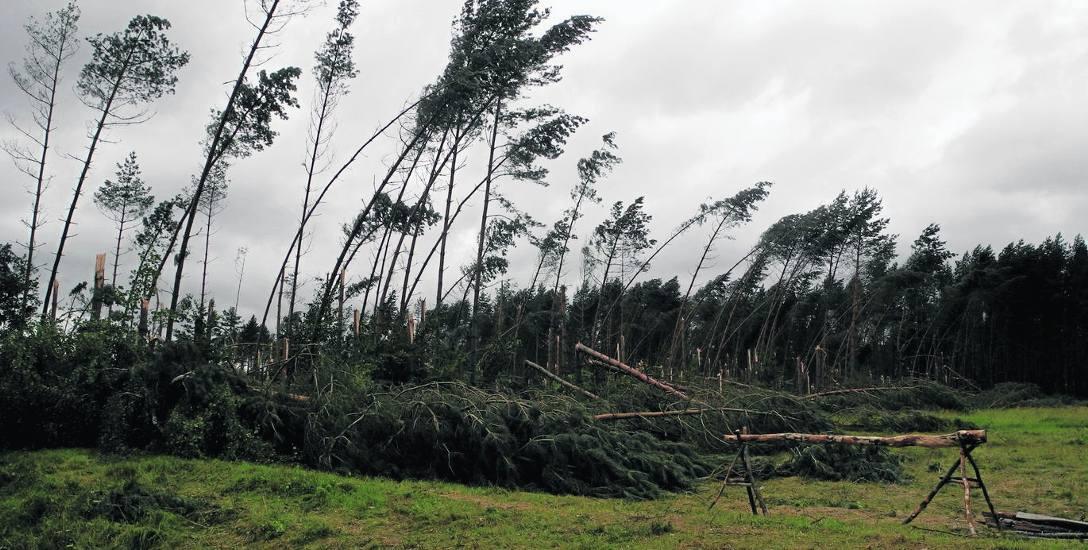 Straty po nawałnicy na Pomorzu wyniosły 27 mln zł. W powiecie bytowskim najbardziej ucierpiała gmina Parchowo, tu straty wyniosły kilka milionów zło