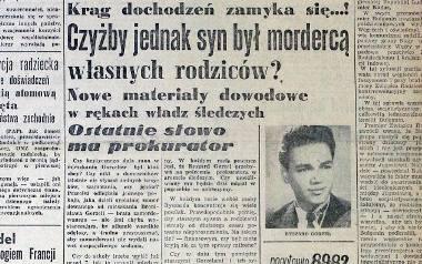 """""""Kurier Lubelski"""" z 1957 r.  pytał: """"Czyżby jednak syn był mordercą własnych rodziców?"""""""