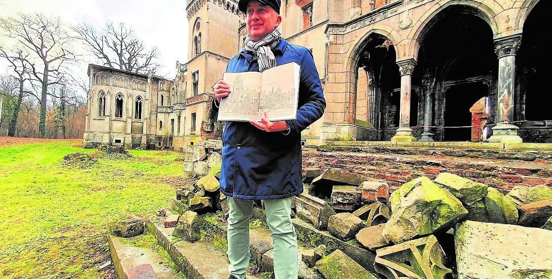 Fascynacja Macieja Mischoka Kopicami zaczęła się od pałacu Schaffgotschów. Praktyczny wyraz swojego przywiązania do tego miejsca dał, angażując się w