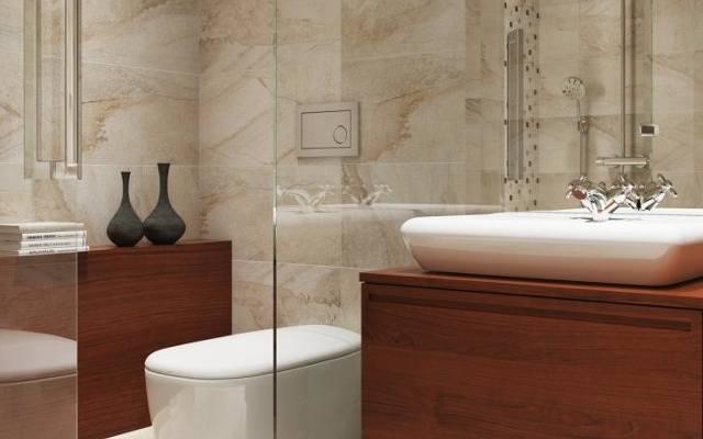 Dzięki płytkom rektyfikowanym w łazience pozbędziemy się problemu związanego z utrzymaniem szerokich fug w czystości.