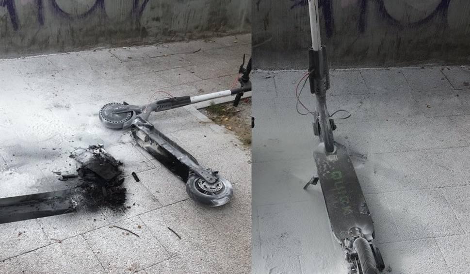 Film do artykułu: Elektryczna hulajnoga spłonęła w Sopocie. Czy pojazdy ze wspomaganiem elektrycznym są bezpieczne? [zdjęcia, wideo]