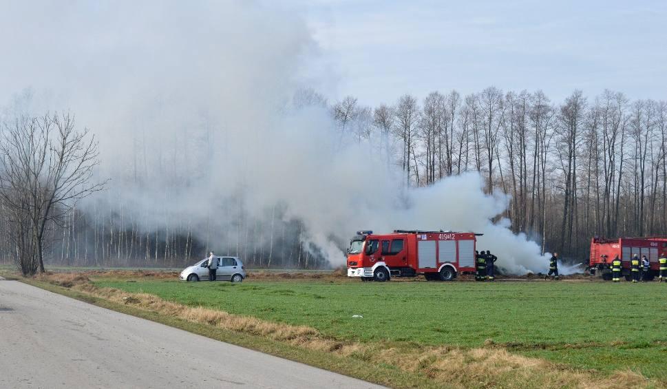 Film do artykułu: Trwa gaszenie stogu słomy w Żarczycach Małych w gminie Małogoszcz (zdjęcia, wideo)