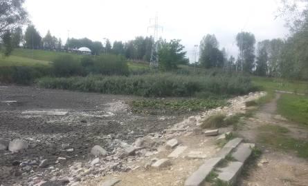 Sosnowiec: niewiele zostało z jeziorka przy Górce Środulskiej ZDJĘCIA