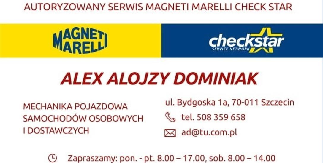 Autoryzowany serwis - MAGNETI MARELLI i Checkstar SERVICE NETWORK ALEX Alojzy Dominiak