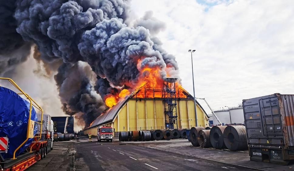 Film do artykułu: Pożar w Porcie Gdynia 5.03.2020. Strażakom udało się ugasić płonący magazyn. Przyczyny pożaru ustali policja [zdjęcia, wideo]