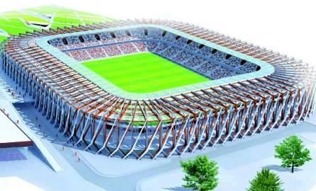 Stadion przy Słonecznej ma być gotowy w przyszłym roku. Pomieści nawet 22,5 tysiąca widzów. Znajdzie się tu też boczne boisko, a także sale konferencyjne