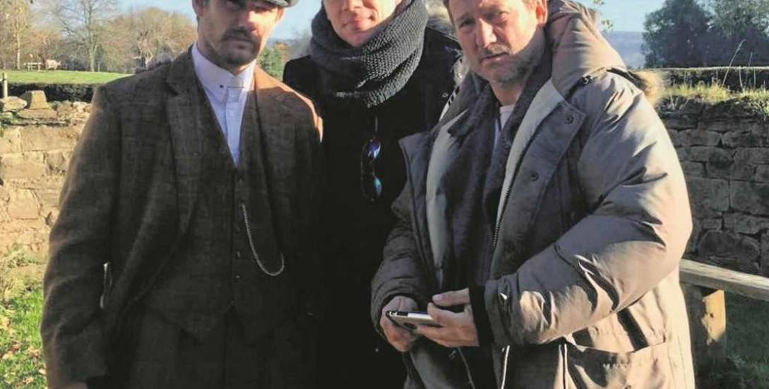 W środku Krzysztof Sołek, po lewej Alex Pettyfer, po prawej  Więckiewicz