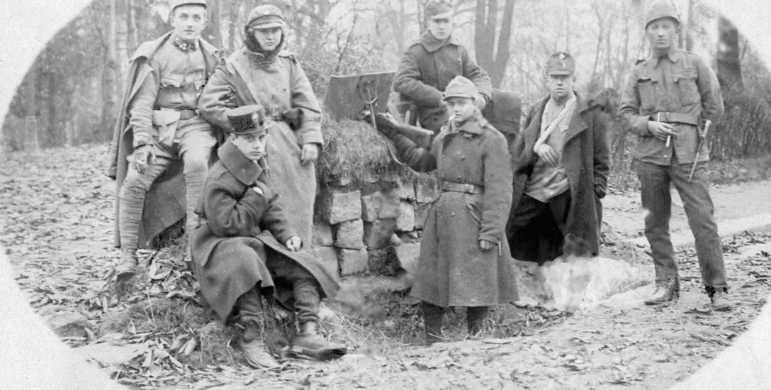 Młodociani obrońcy Lwowa z placówki przy ul. Matejki