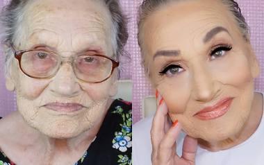 Dobrze wykonany makijaż potrafi zdziałać prawdziwe cuda: nie tylko wymodelować twarz, ale nawet odmłodzić o kilka dekad. Najlepszym dowodem są zdjęcia