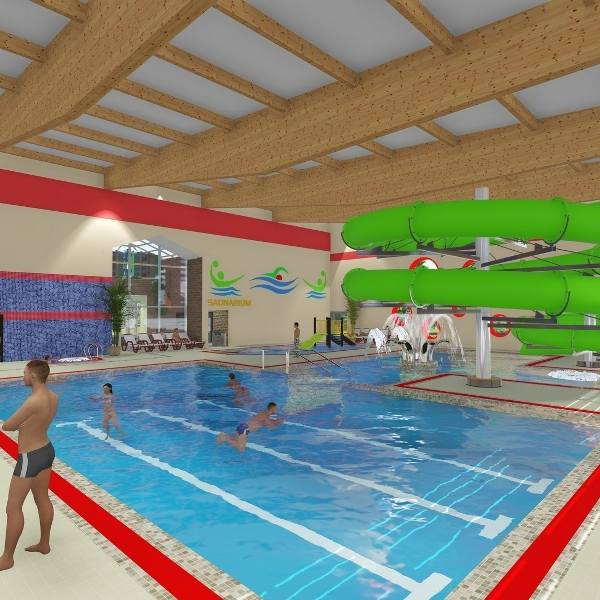 Tak ma wyglądać kryta pływalnia w Kostrzynie nad Odrą. Miasto ogłosiło już trzeci przetarg na budowę.