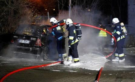 Pożar samochodów na Wapiennej w Opolu
