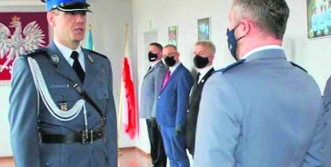 Młodszy inspektor Bartłomiej Karch oficjalnie na stanowisko komendanta łowickiej policji został wprowadzony 15 marca