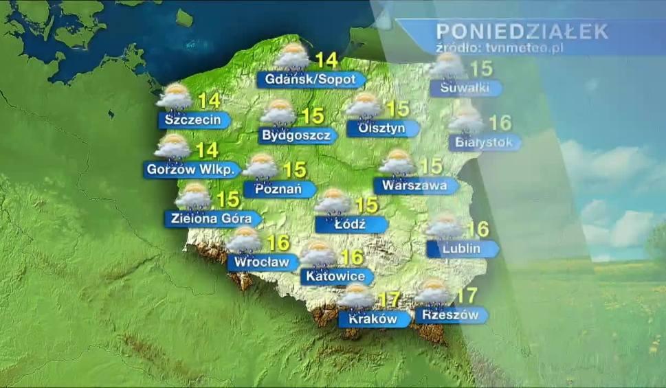 Film do artykułu: Poniedziałek ciepły z przelotnymi opadami deszczu. W kolejnych dniach trochę chłodniej