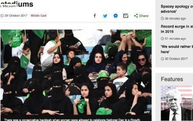 Saudyjki wreszcie będą mogły obejrzeć mecz