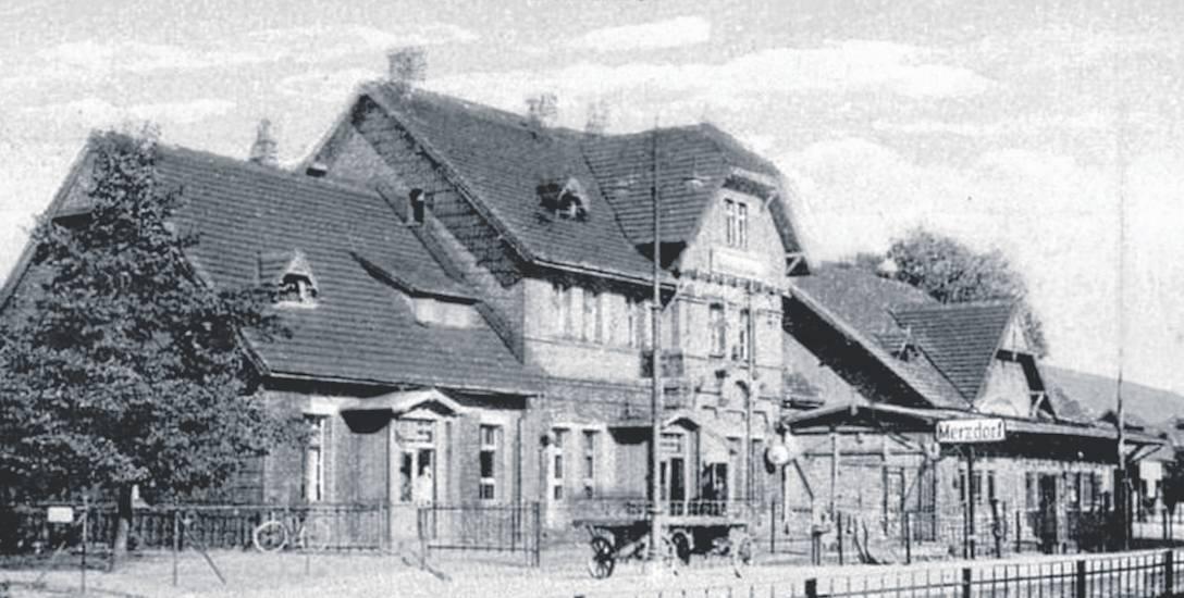 Dworzec kolejowy w Marciszowie, gdzie jesienią 1945 roku przyjechali repatrianci z kresów
