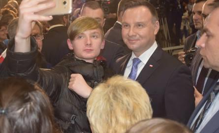 W trakcie wizyty w Kościanie prezydent spotkał się także z mieszkańcami miasta.