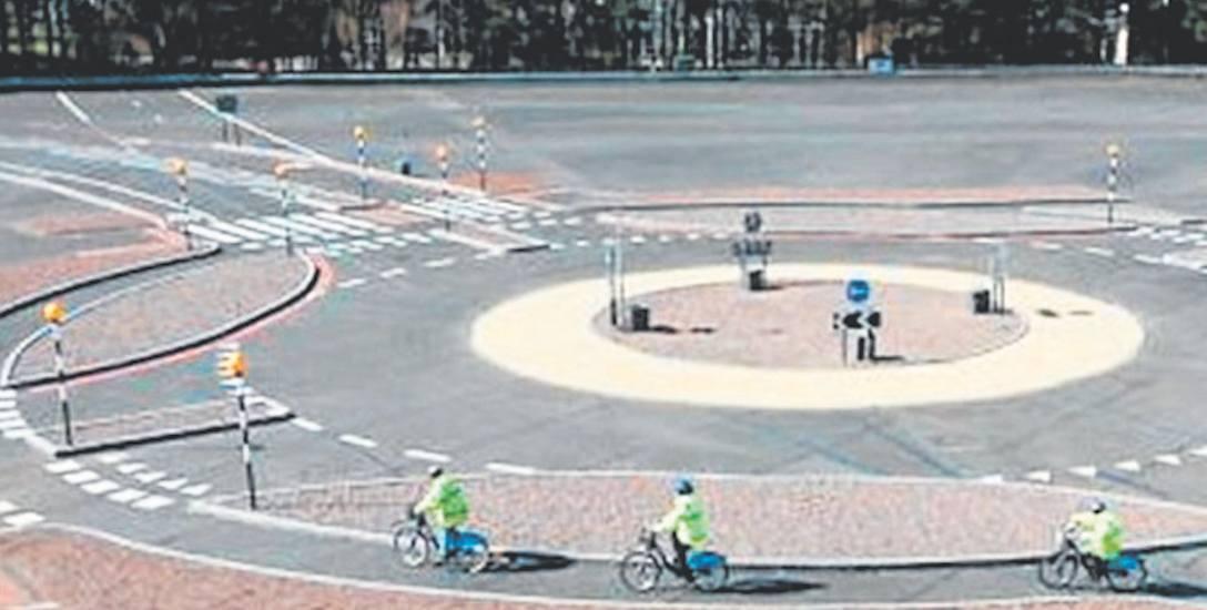 Rondo samochodowo-rowerowe to element większego projektu, przeznaczonego dla cyklistów w Jaworznie