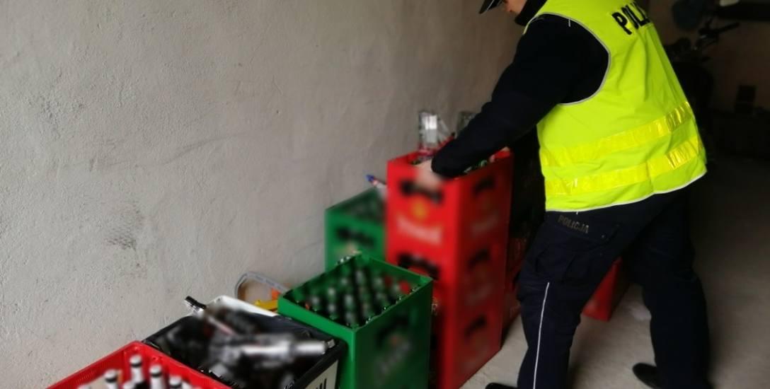 Nielegalne punkty z alkoholem to nie są pojedyncze przypadki. Na zdjęciu miejsce namierzone przez KPP Świecie.