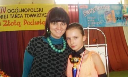 Iwona Woźniakowska z córką Karoliną po jednym z wygranych turniejów