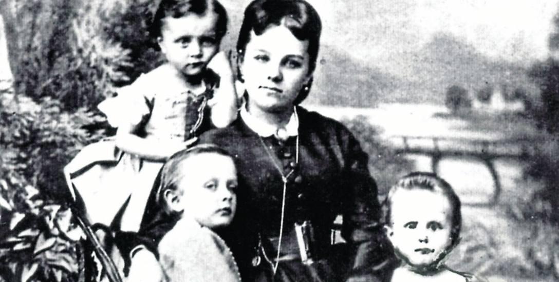 Hrabina Joanna Schaffgotsch z dziećmi (była matką trzech córek i syna)