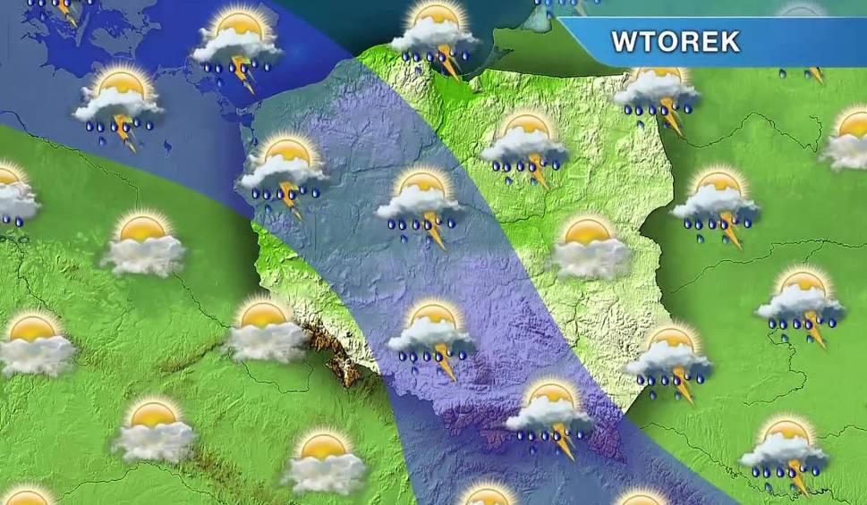 Film do artykułu: Pogoda w Opolu i na Opolszczyźnie. Wtorek burzowy