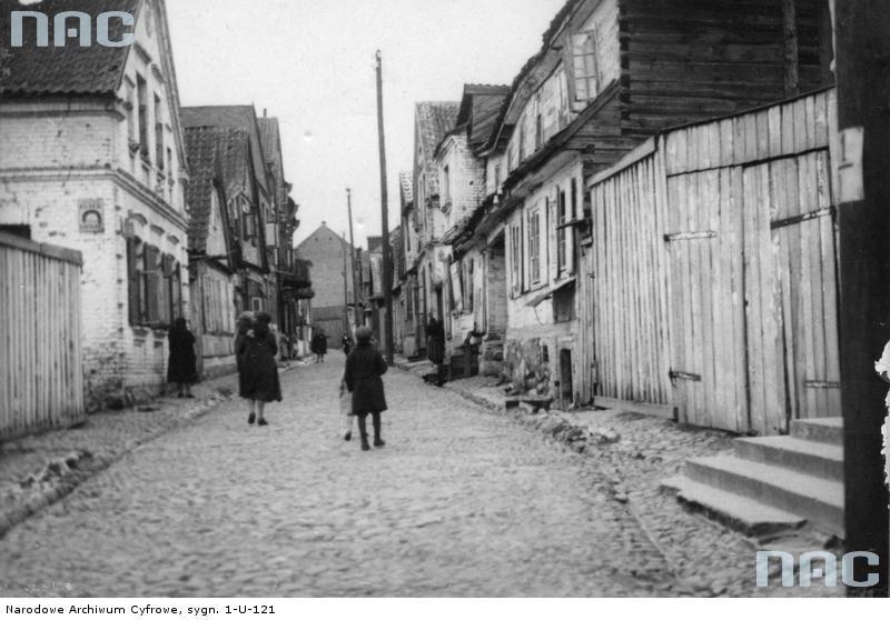 Białystok. Ulica w dzielnicy Chanajki w 1932 roku