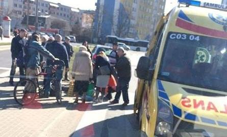 Potrącenie przy ulicy Przybyłów przy Biedronce. Uwaga na utrudnienia!