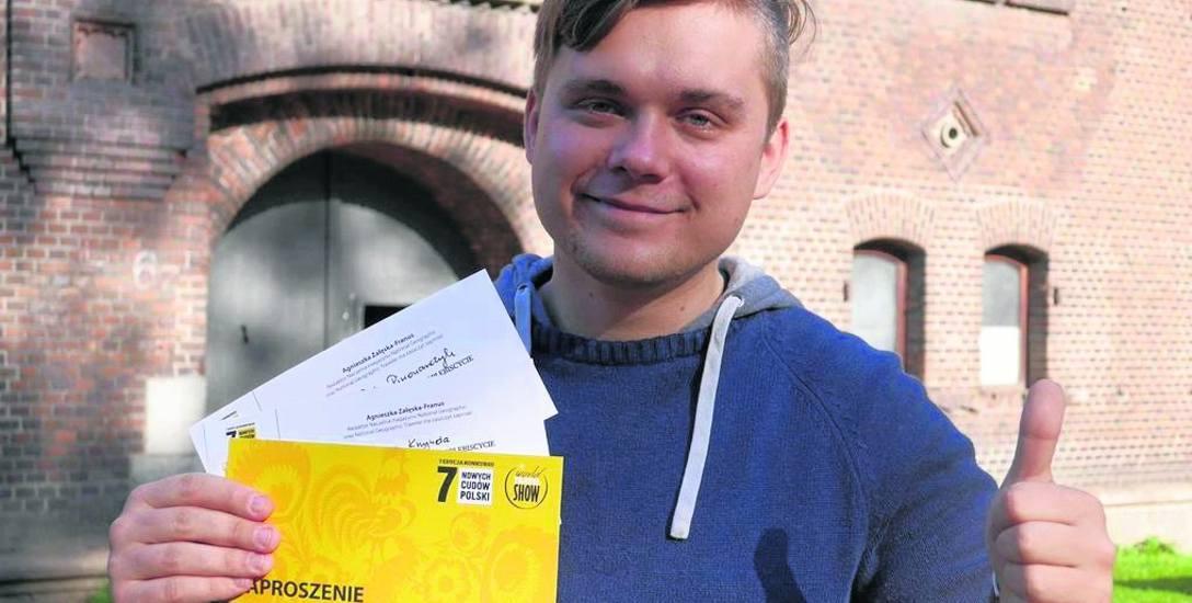 Marcin Ossowski z Muzeum Obrony Wybrzeża z dumą  przyjął zaproszenie na galę podczas której Podziemne Miasto otrzymało tytuł Cud Polski