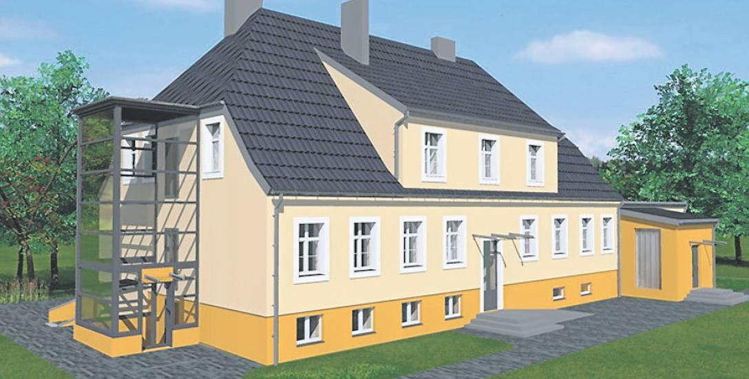 Tak ma wyglądać budynek MOPS w Mielnie już po remoncie. Dziś to obiekt rzeczywiście dość zaniedbany
