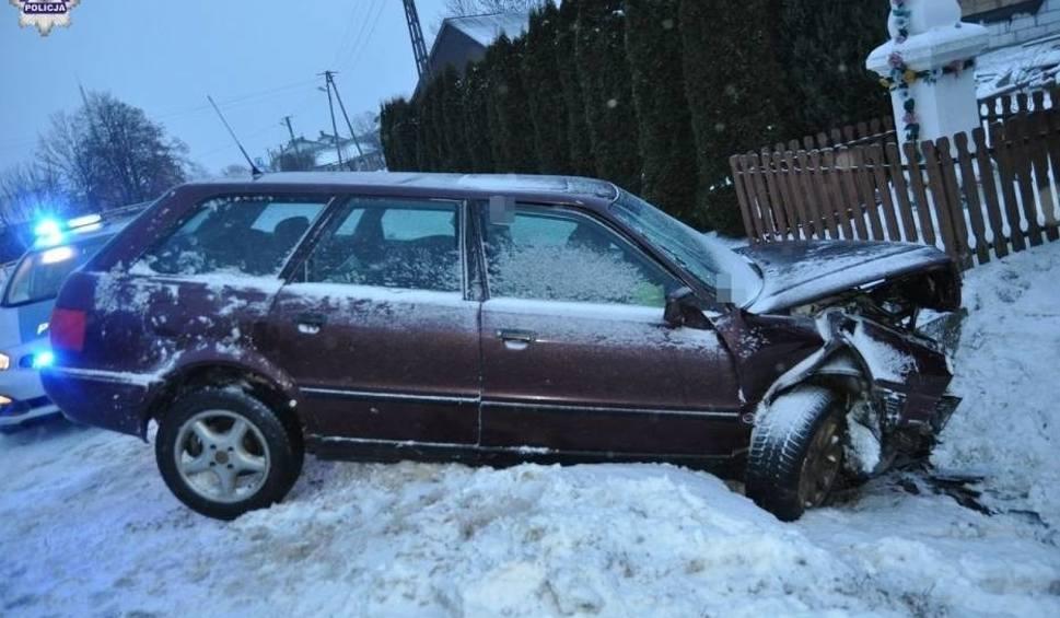Film do artykułu: Wypadek w Łukowej: Pijany 24-latek uderzył w przepust