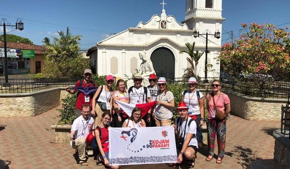Film do artykułu: Pielgrzymi z regionu hucznie powitani w Panamie [wideo]