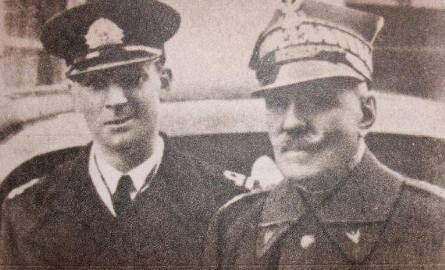 Generał Aleksander Karnicki z synem Borysem