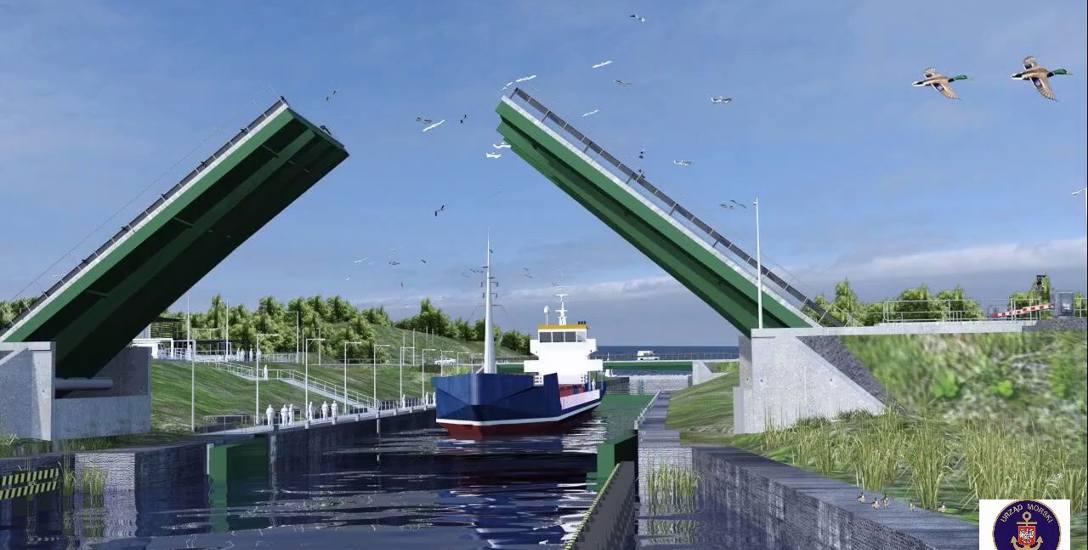 Wizualizacja kanału żeglugowego przez Mierzeję Wiślaną.
