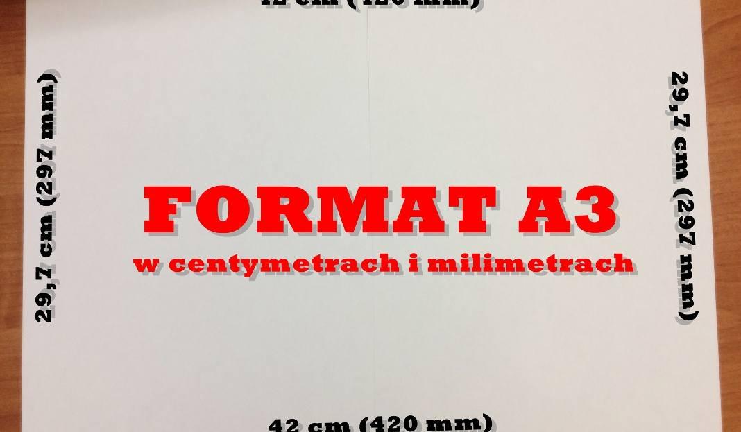Format A3 W Centymetrach I Milimetrach