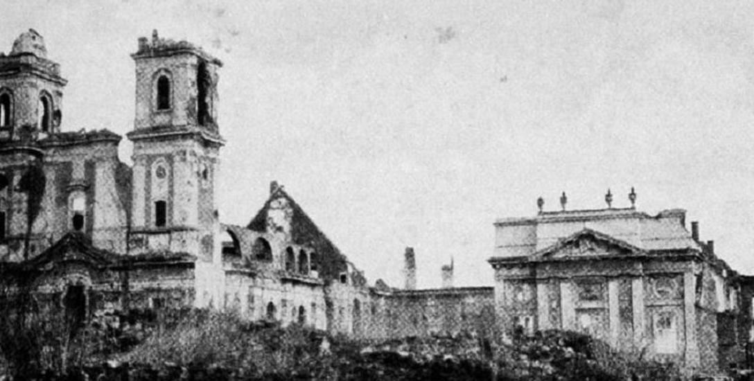 Zniszczony Głogów w 1945 r.
