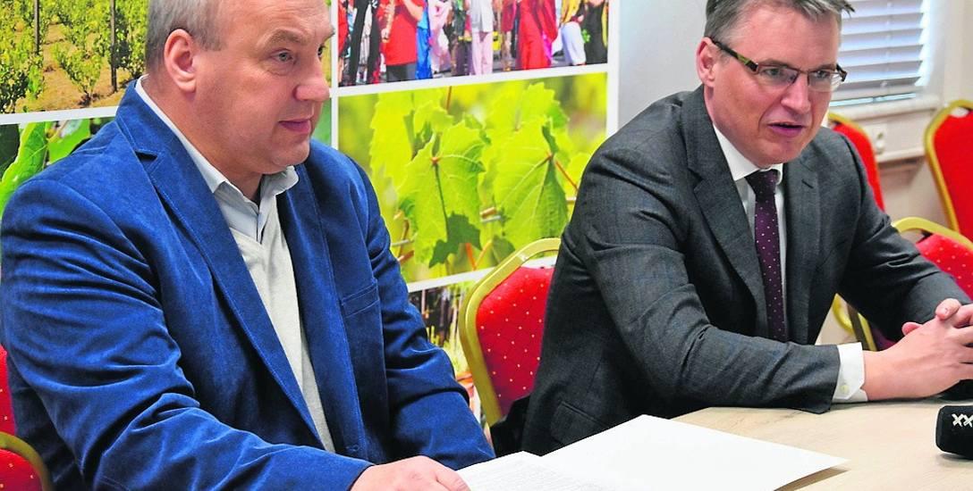 O planach budowy drogi mówili prezydent Janusz Kubicki oraz wykonawca Karol Jankowski