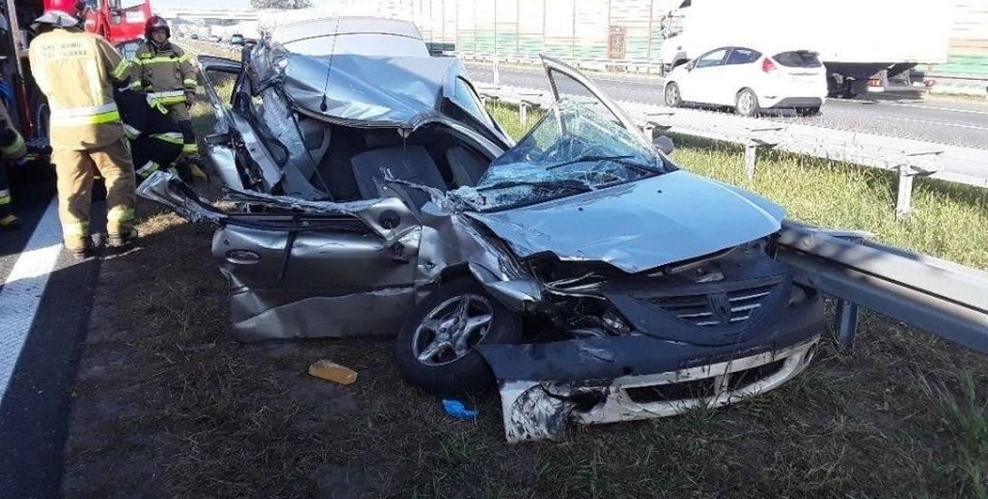 Tragiczny wypadek na autostradzie. Na A2 w powiecie łowickim lądował śmigłowiec
