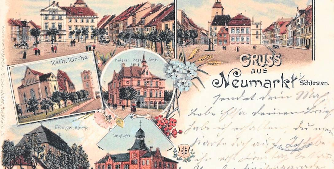 Pocztówka ze Środy Śląskiej z roku 1906.