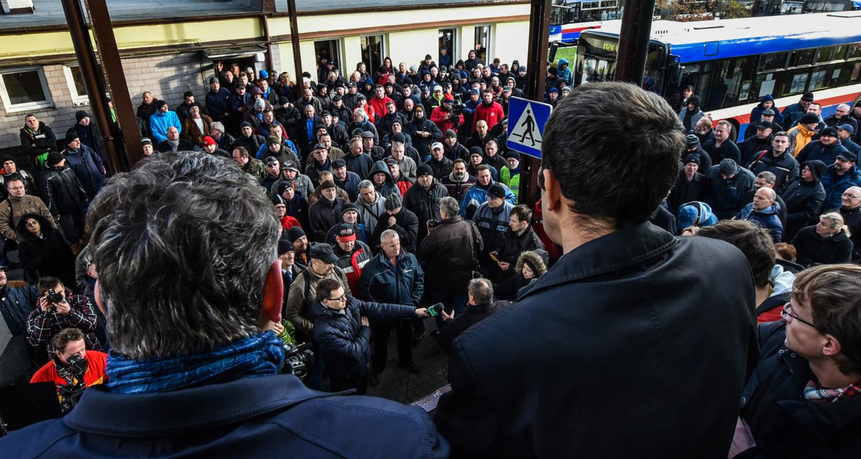Protest MZK Bydgoszcz.
