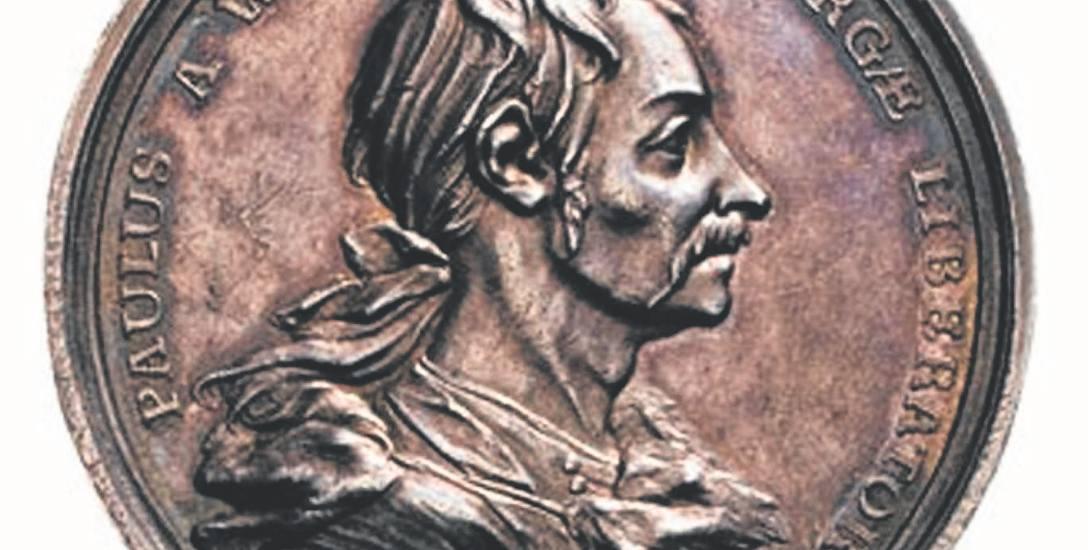 Medal pamiątkowy z wizerunkiem Johanna Paula von Wernera, który w 1760 r. przepędził wojska rosyjskie spod Kołobrzegu