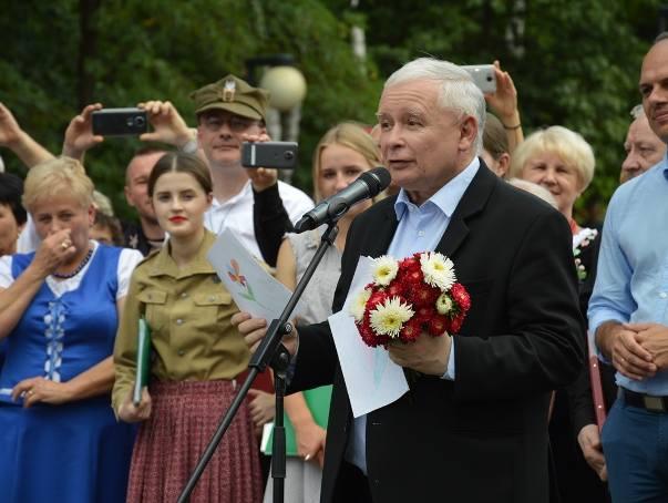 Jarosław Kaczyński na pikniku w Stalowej Woli